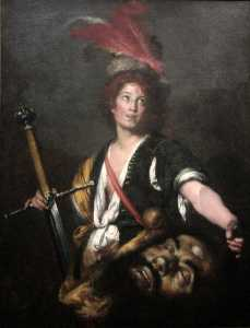 Bernardo Strozzi - David with the Head of Goliath