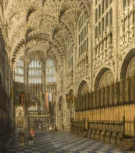 Giovanni Antonio Canal (Canaletto) - The Interior of Henry VII Chapel in Westminster Abbey