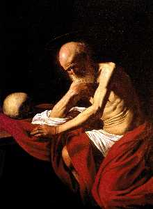 Caravaggio (Michelangelo .. - Saint Jerome in Meditatio..