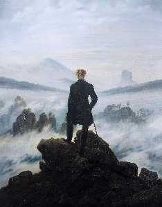 Caspar David Friedrich - The wanderer above the se..