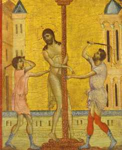 Cimabue - The Flagellation of Chris..