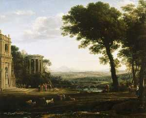 Claude Lorrain (Claude Ge.. - The father of Psyche sacr..