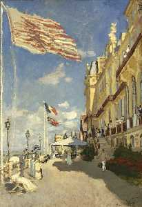 Claude Monet - The Hotel des Roches Noires at Trouville