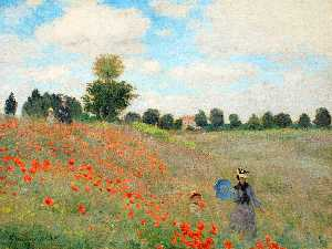 Claude Monet - Wild Poppies, near Argenteuil