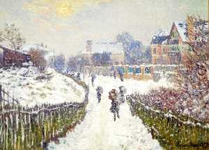 Claude Monet - Boulevard Saint-Denis, Argenteuil, in Winter