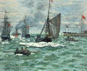 Claude Monet - Entrance to the Port of Honfleur