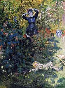 Claude Monet - Camille and Jean Monet in the Garden at Argenteuil