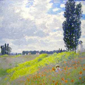 Claude Monet - Walk in the Meadows at Argenteuil