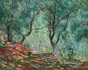 Claude Monet - Olive Tree Wood in the Moreno Garden