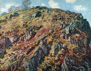 Claude Monet - Study of Rocks