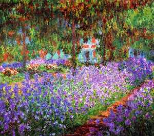 Claude Monet - Irises in Monet-s Garden
