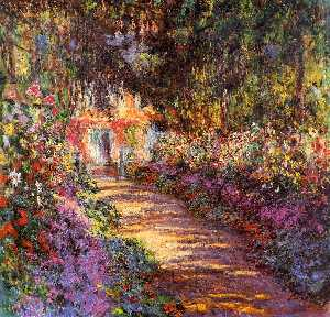 Claude Monet - Pathway in Monet-s Garden at Giverny