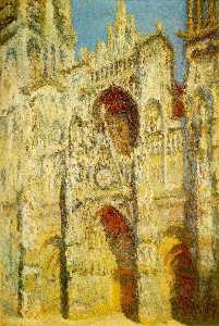 Claude Monet - Rouen Cathedral, The Gate and The Tower
