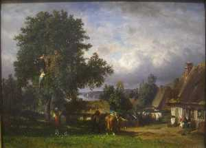 Constant Troyon - Apple Harvest in Normandy