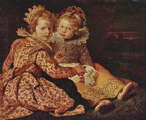 Cornelis De Vos - Two daughters of the pain..