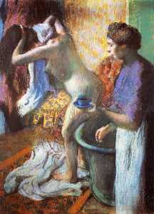 Edgar Degas - The Cup of Tea (Breakfast after Bathing)