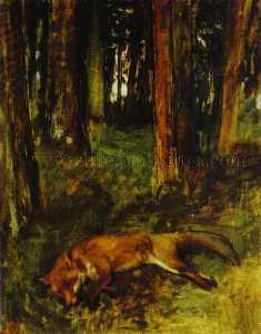 Edgar Degas - Dead fox lying in the Undergrowth