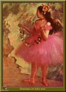 Edgar Degas - Dancer in pink dress