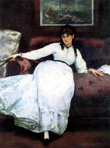 Edouard Manet - The Rest, portrait of Berthe Morisot