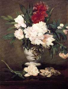 Edouard Manet - Vase of Peonies on a Smal..