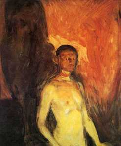 Edvard Munch - Self-Portrait in Hell