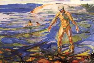 Edvard Munch - Bathing Man