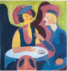 Ernst Ludwig Kirchner - Two Women in a Cafe