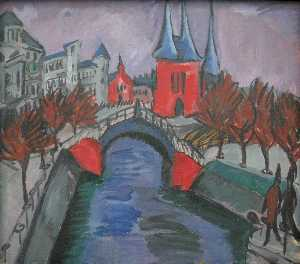 Ernst Ludwig Kirchner - Red Elisabeth Riverbank, Berlin