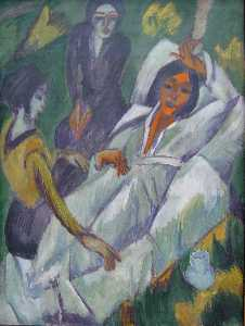 Ernst Ludwig Kirchner - Woman at Tea Time: Sick Woman