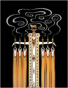 Erté (Romain De Tirtoff) - At the Theatre, Golden Calf