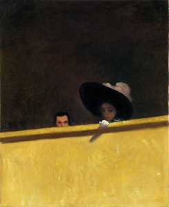 Felix Vallotton - Box Seats at the Theater, the Gentleman and the Lady
