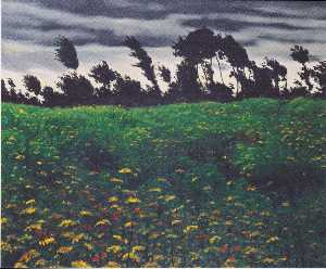Felix Vallotton - The blossoming field