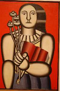 Fernand Leger - Woman with a Book