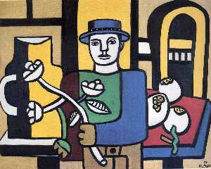 Fernand Leger - The man in the blue hat
