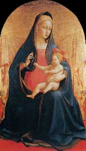 Fra Angelico - Madonna and Child of the Grapes
