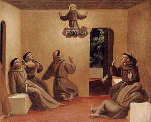 Fra Angelico - Apparition of St Francis at Arles