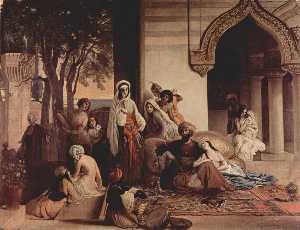 Francesco Hayez - The new favorite (Harem scene)