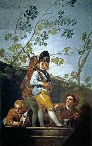 Francisco De Goya - Boys playing soldiers