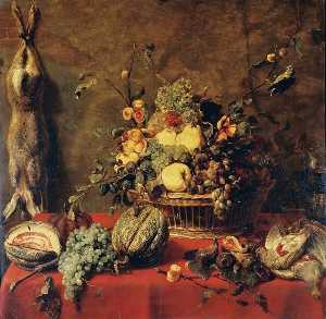 Frans Snyders - Still Life of Fruit in a ..