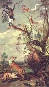 Frans Snyders - Fox and cat