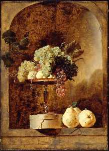 Frans Snyders - Grapes, Peaches and Quinc..