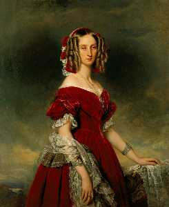 Franz Xaver Winterhalter - Portrait of Louises von O..