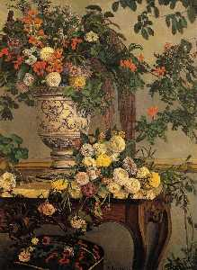 Jean Frederic Bazille - Flowers