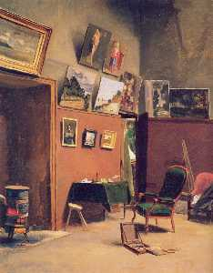 Jean Frederic Bazille - Studio in the rue de Furs..
