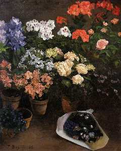 Jean Frederic Bazille - Study of Flowers