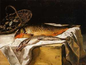 Jean Frederic Bazille - Still Life with Fish
