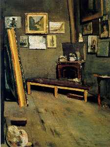 Jean Frederic Bazille - Studio of The Rue Viscont..