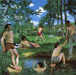 Jean Frederic Bazille - Bathers (Summer Scene)