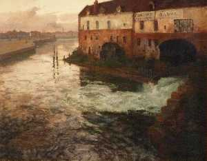 Frits Thaulow - Old factory on the Somme (Even..