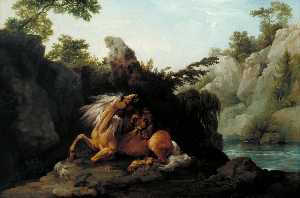 George Stubbs - Horse Devoured by a Lion